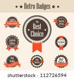 retro badges. vector | Shutterstock .eps vector #112726594