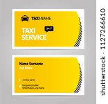 taxi business or visiting card. ...   Shutterstock .eps vector #1127266610