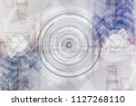 gear grey futuristic technology ... | Shutterstock . vector #1127268110