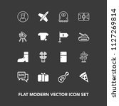 modern  simple vector icon set... | Shutterstock .eps vector #1127269814