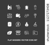 modern  simple vector icon set... | Shutterstock .eps vector #1127273408