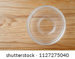 top view of empty glass bowl on ... | Shutterstock . vector #1127275040