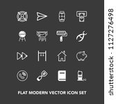modern  simple vector icon set... | Shutterstock .eps vector #1127276498