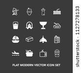 modern  simple vector icon set... | Shutterstock .eps vector #1127278133