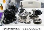 high precision hot forging... | Shutterstock . vector #1127280176