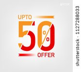 up to 50  offer unit with... | Shutterstock .eps vector #1127288033