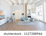 fashionable spacious apartment... | Shutterstock . vector #1127288966