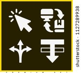 set of 4 arrows filled icons...   Shutterstock .eps vector #1127289938
