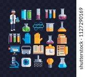 chemical laboratory equipment...   Shutterstock .eps vector #1127290169