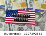 the economic growth of us gdp... | Shutterstock . vector #1127292563