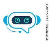 chatbot. robo advisor  robo... | Shutterstock .eps vector #1127293046