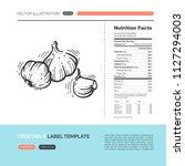vector concept of fresh healthy ... | Shutterstock .eps vector #1127294003