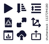 set of 9 arrows filled icons...   Shutterstock .eps vector #1127294180
