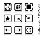 website screen icons set   full ... | Shutterstock .eps vector #112729558