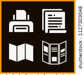 set of 4 paper filled icons...   Shutterstock .eps vector #1127303048