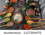 spices for cooking with kitchen ... | Shutterstock . vector #1127304470
