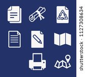 set of 8 paper filled icons...   Shutterstock .eps vector #1127308634