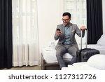 businessman using smart phone...   Shutterstock . vector #1127312726