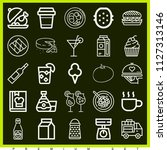 set of 25 food outline icons... | Shutterstock .eps vector #1127313146