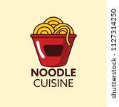 cuisine ramen noodle... | Shutterstock .eps vector #1127314250