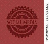 social media red emblem | Shutterstock .eps vector #1127315339