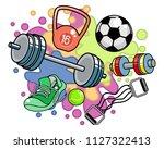 vector illustration of sports... | Shutterstock .eps vector #1127322413