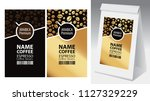 paper packaging with label for... | Shutterstock .eps vector #1127329229