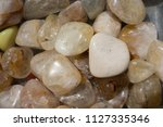 tumbled scitrine gem stone as ... | Shutterstock . vector #1127335346