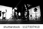 blurred images of behind the... | Shutterstock . vector #1127337413