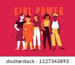 vector illustration in trendy... | Shutterstock .eps vector #1127343893