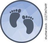 baby feet icon | Shutterstock .eps vector #1127347649