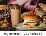 Small photo of Kottayam, Kerala/India - April: Double cheese burger