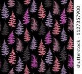 fern frond herbs  tropical... | Shutterstock .eps vector #1127357900