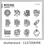 bitcoin icon set | Shutterstock .eps vector #1127358398
