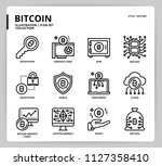 bitcoin icon set | Shutterstock .eps vector #1127358410