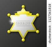 wild west sheriff metal gold... | Shutterstock .eps vector #1127361818
