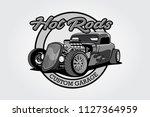 vector logo black white design... | Shutterstock .eps vector #1127364959