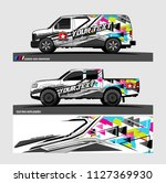 car decal graphic background...   Shutterstock .eps vector #1127369930