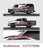 car decal graphic background... | Shutterstock .eps vector #1127370086