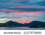 twilight over budva city | Shutterstock . vector #1127373830