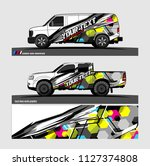 car decal design. abstract...   Shutterstock .eps vector #1127374808