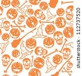 halloween pattern   Shutterstock .eps vector #112737520