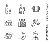 wine set of vector icons | Shutterstock .eps vector #1127377130