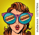 hot dog sausage ketchup mustard.... | Shutterstock .eps vector #1127378066