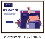 vector illustration people are... | Shutterstock .eps vector #1127378609