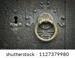 Old Metalic Latch On Wooden...