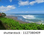 view to balean surf spot with... | Shutterstock . vector #1127380409