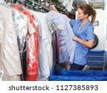 positive girl working in modern ... | Shutterstock . vector #1127385893