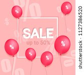big sale up to 50 percent off... | Shutterstock .eps vector #1127386520