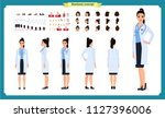 female doctor character... | Shutterstock .eps vector #1127396006